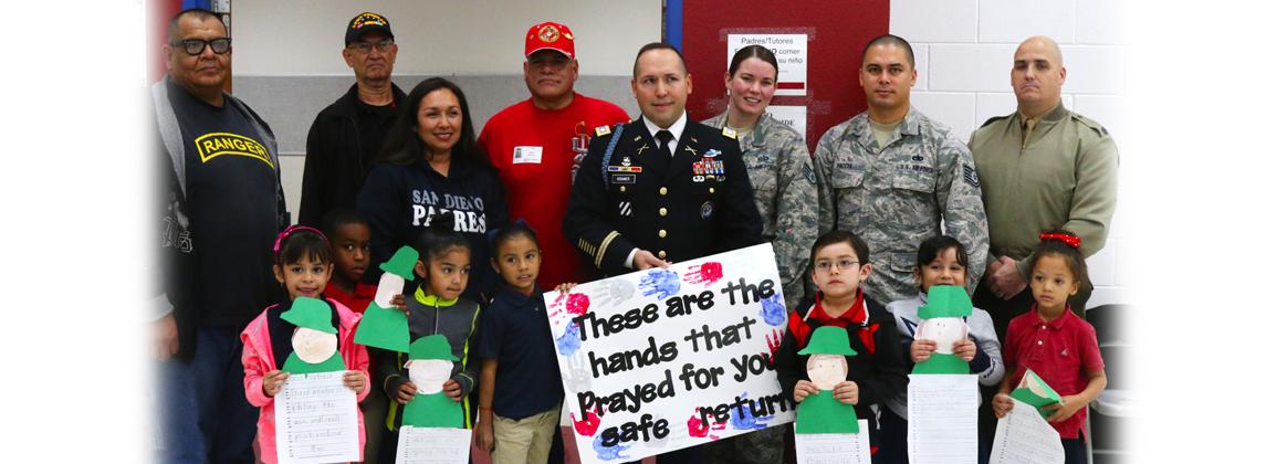 North Loop Elementary Honors JTF-N, Community Veterans