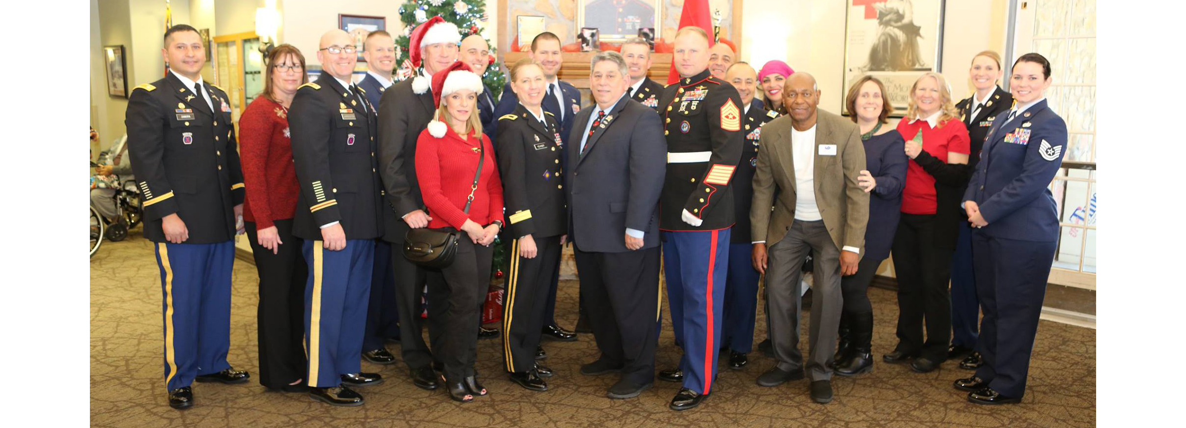 JTF-N Delivers Holiday Gifts to Veteran's Home